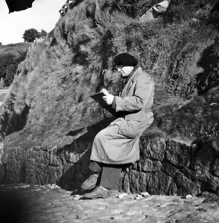 Composer Messiaen listens to birds