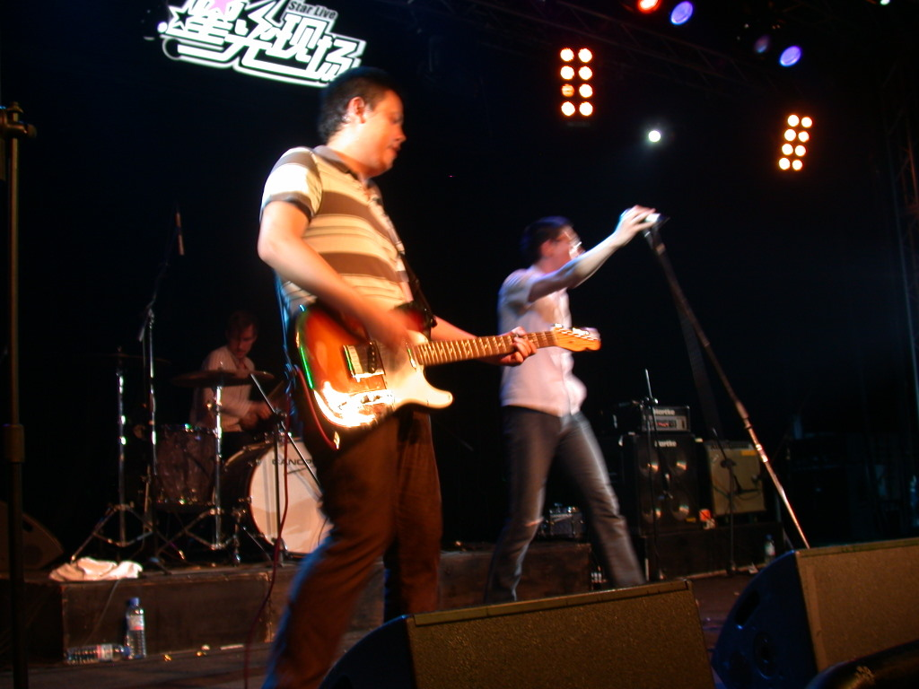 P.K.14 live at Star Live in Beijing, photo by Jon Davis