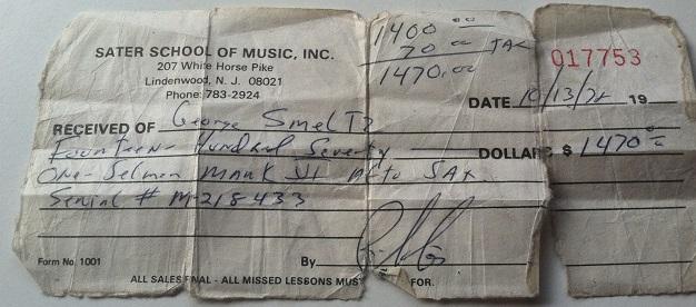 An old receipt