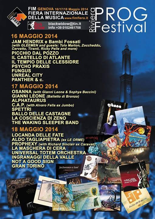 Riviera Prog Festival 2014 poster
