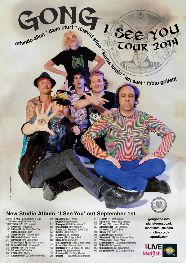 Gong 2014 tour poster