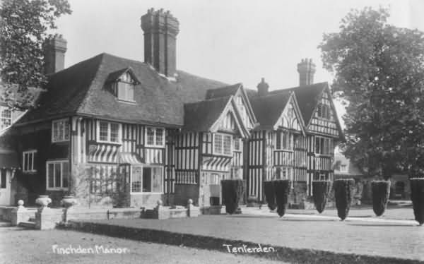 Finchden Manor in 1937