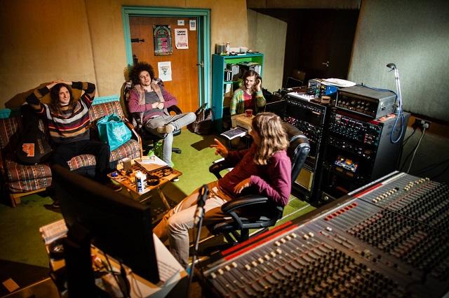Syd Arthur in the studio