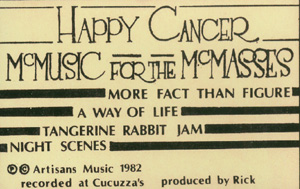 Happy Cancer - McMusic for the McMasses cassette cover