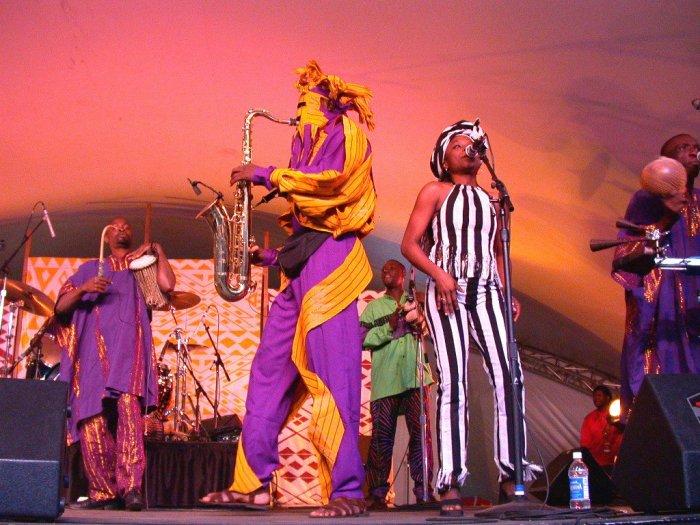 Lágbájá at WOMAD 2001, photo by Danette Davis