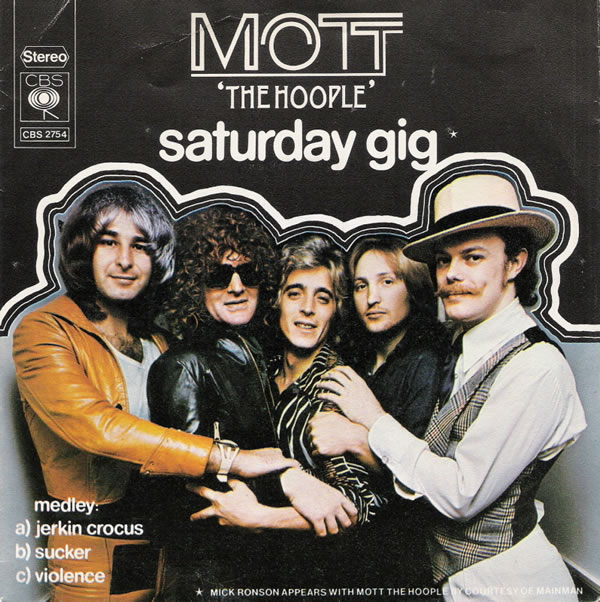 Mott the Hoople Saturday Gig single