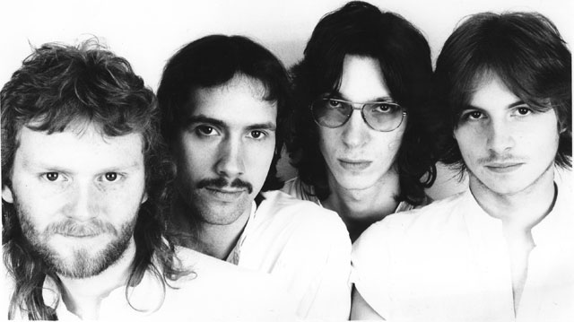 Early Pendragon, L-R: Nick Barrett, Peter Gee, Nigel Harris and Rik Carter