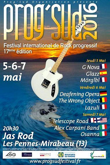 Prog'Sud 2016 poster