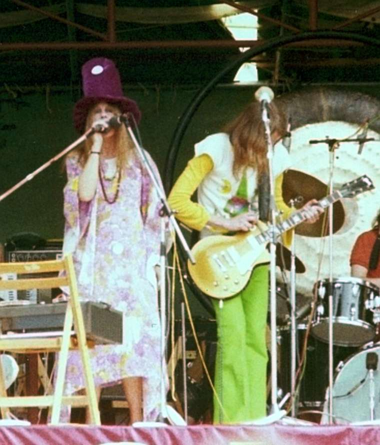 Gilli Smyth and Daevid Allen with Gong