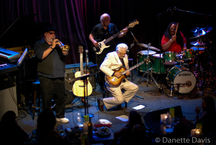 Larry Coryell live with Alphonse Mouzon, Randy Brecker, and Danny Trifan, 2013 photo by Danette Davis