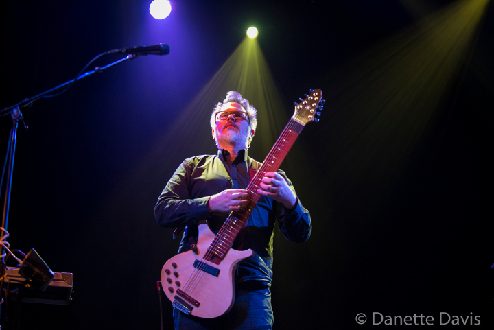 Markus Reuter on stage with Stick Men 2017, photo by Danette Davis