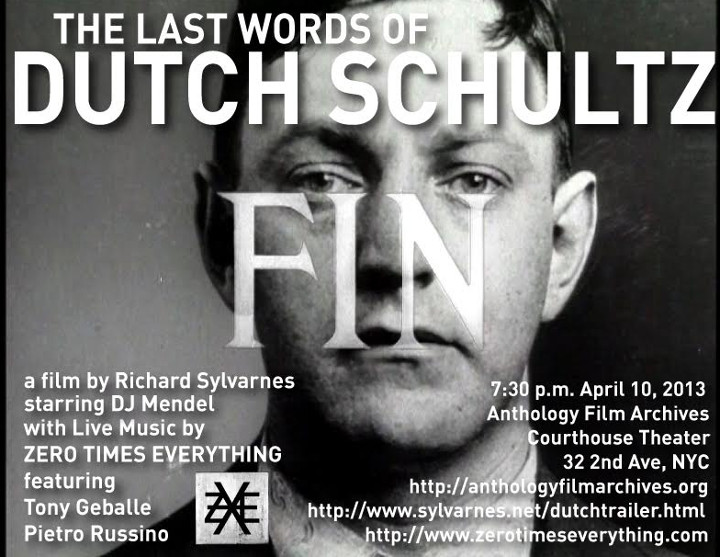 The Last Words of Dutch Schultz poster