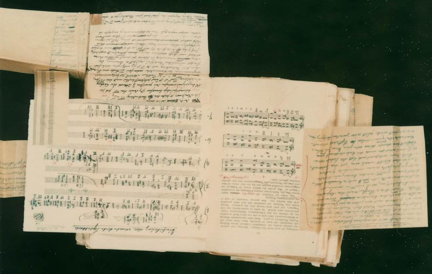 Schönberg's Theory of Harmony manuscript sample