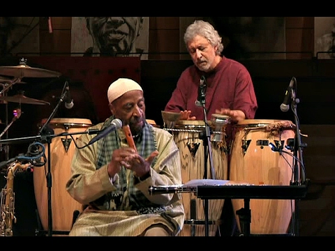 Yusef Lateef and Adam Rudolph, photo from Youtube video
