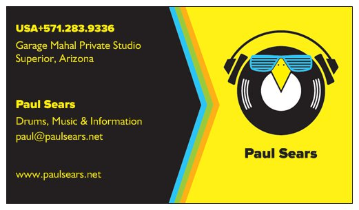 Paul Sears business card