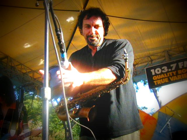 Jerry Marotta live, photo by Danette Davis
