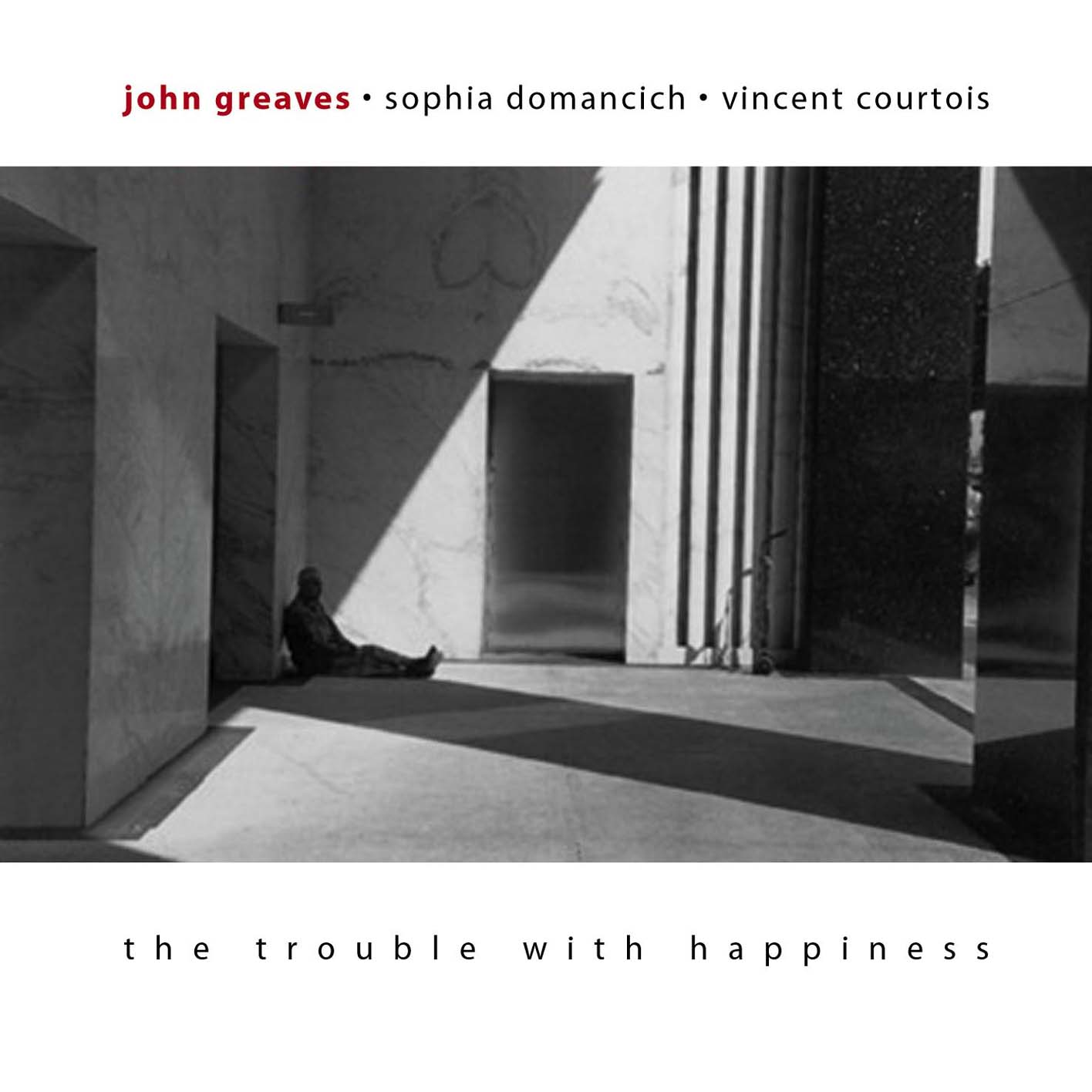 John Greaves / Sophia Domancich / Vincent Courtois — The Trouble with Happiness