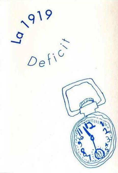 La 1919 — Deficit