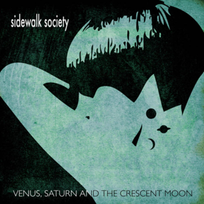 Sidewalk Society — Venus, Saturn and the Crescent Moon