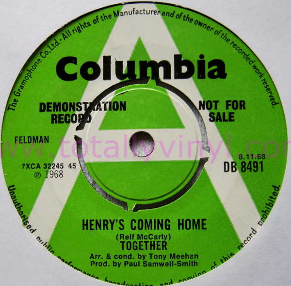 Together - Henry's Coming Home single