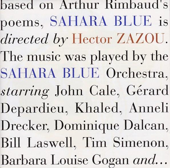 Hector Zazou — Sahara Blue